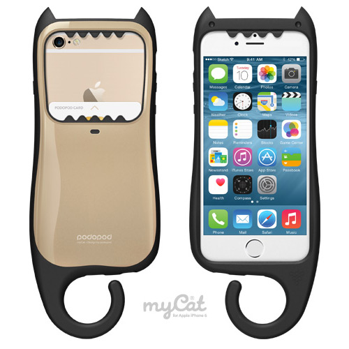 ... 6S / PODOPOD My Cat Dual Layered Case for iPhone 6(S)/6(S) Plus - Gold