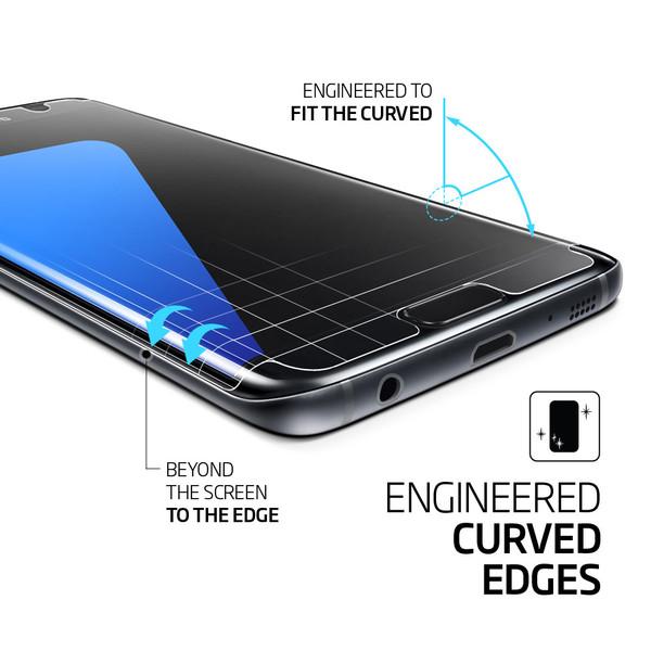 on sale 2d994 6dbf7 Spigen Galaxy S7 Edge Film Curved Crystal HD Screen Protector