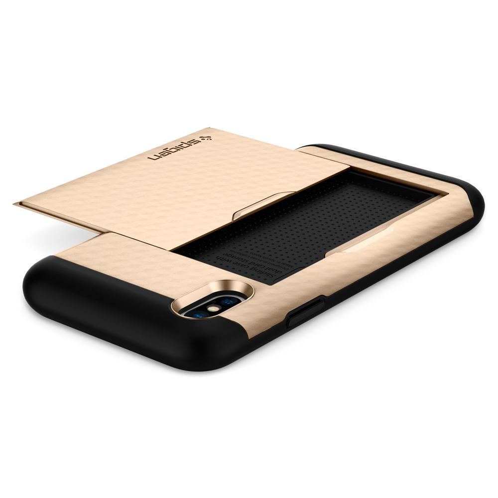 purchase cheap 153dd a4c19 Spigen Crystal Wallet Case for iPhone X/XS