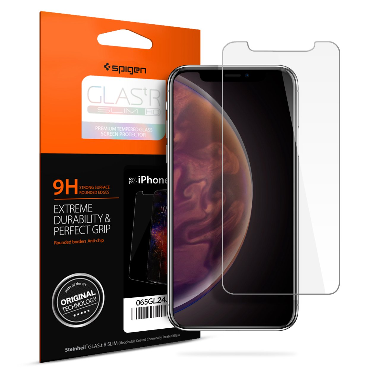 best loved a0d2c 0c1a2 Spigen Screen Protector GLAS.tR Slim HD Tempered Glass for XS Max